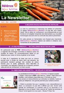 Newsletter 33 - Bélénos Enjeux Nutrition - Avril/Mai/Juin 2020