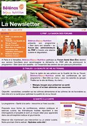 Newsletter 29 - Bélénos Enjeux Nutrition - Avri/Mai/Juin 2019